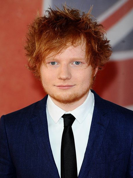 Ed Sheeran arrives at the BRIT Awards 2012