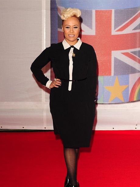 Emeli Sande arrives at the BRIT Awards 2012