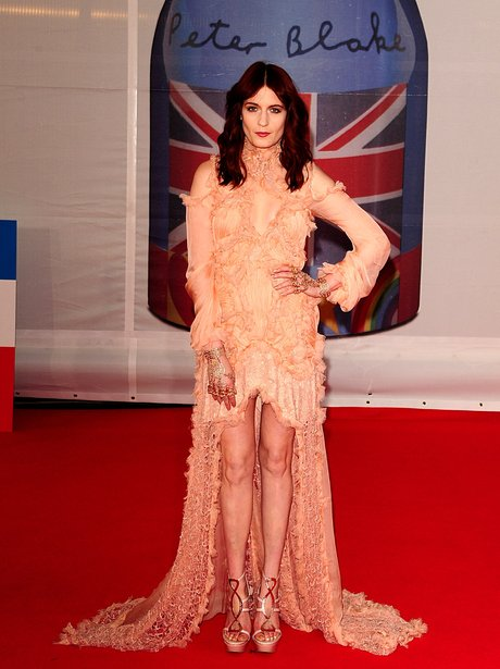 Florence Welch at the 2012 BRIT Awards