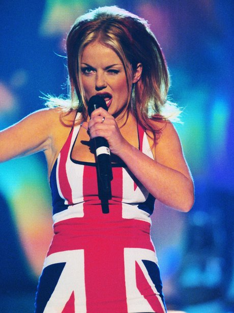 Geri Halliwell Unior Jack Dress at the Brits 1998