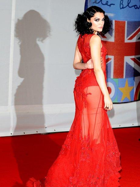 Jessie J arrives at the BRIT Awards 2012