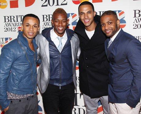 JLS arrive at the BRIT Awards 2012