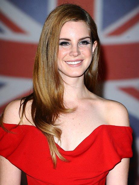 Lana Del Ray arrives at the BRIT Awards 2012