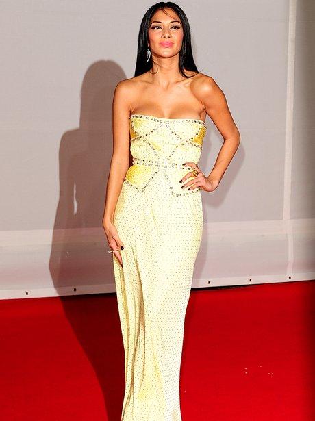 Nicole Sherzinger arrives at the BRIT Awards 2012