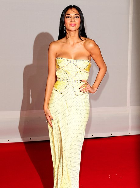 Nicole Sherzinger arrives at the BRIT Awards 2012