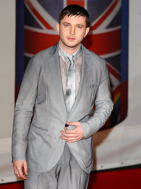 Plan B arrives at the BRIT Awards 2012