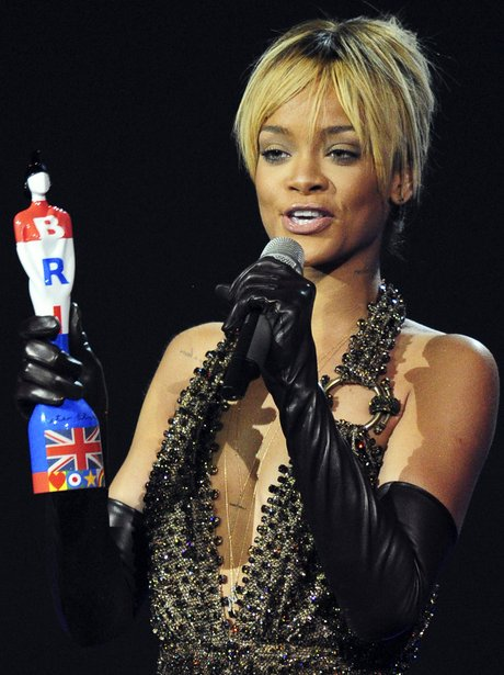 Rihanna at the BRIT Awards 2012