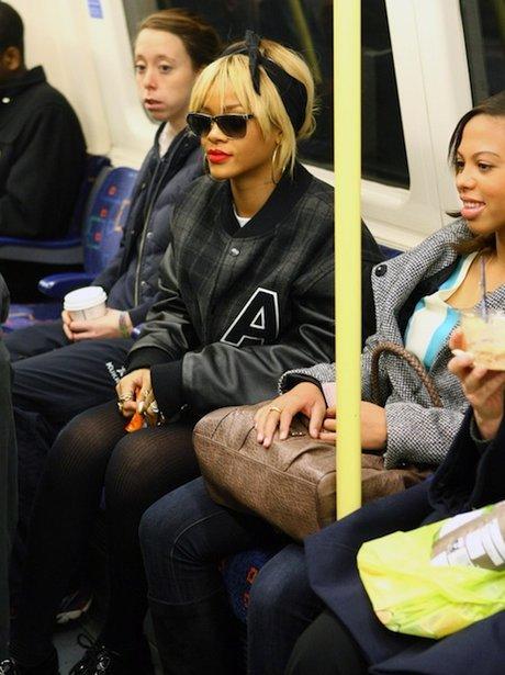 Rihanna takes the tube 02 Arena 2012.