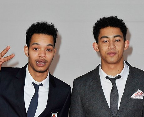 Rizzle Kicks on the red carpet at the BRIT Awards