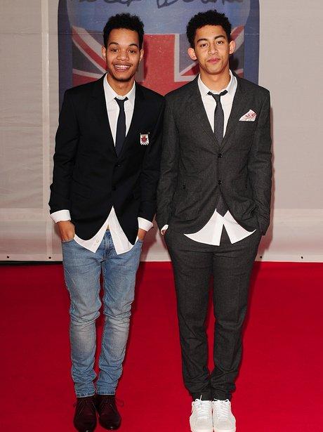 Rizzle Kicks arrive at the BRIT Awards 2012