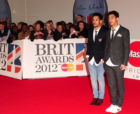 Rizzle Kicks arrive at the BRIT Awards 2012