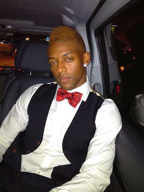 Oritse from JLS with orange hair