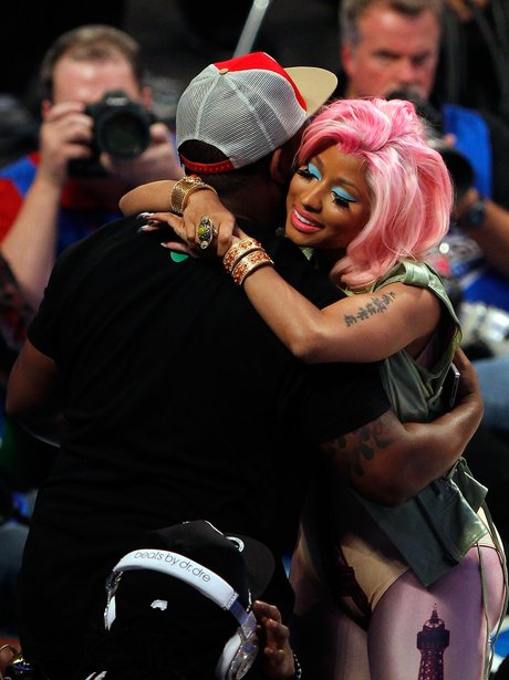 Nicki Minaj at the NBA All-Star basketbal game