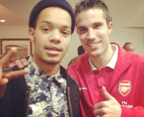 Rizzle kicks at Arsenal FC