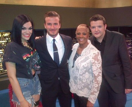 Jessie J with David Beckham