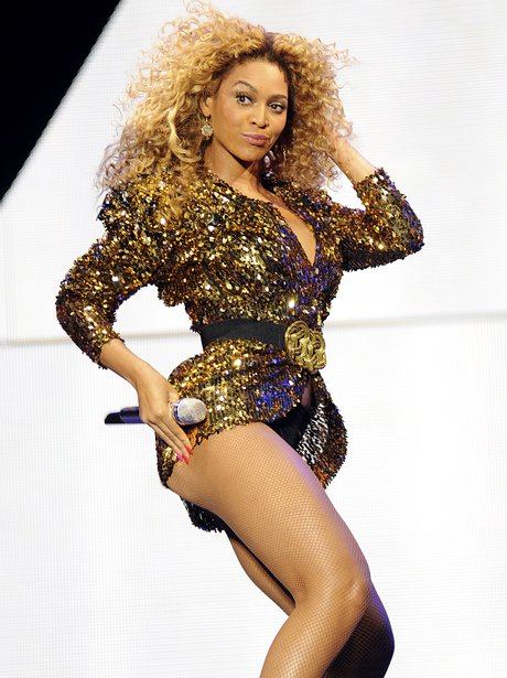 Beyonce performs live at Glastonbury Festival