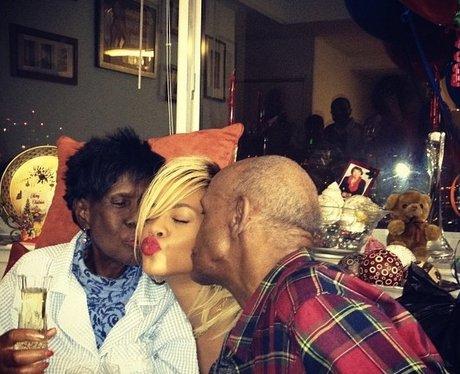 Rihanna celebrates grandma's bday