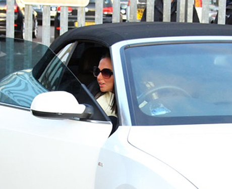 Tulisa in her new car