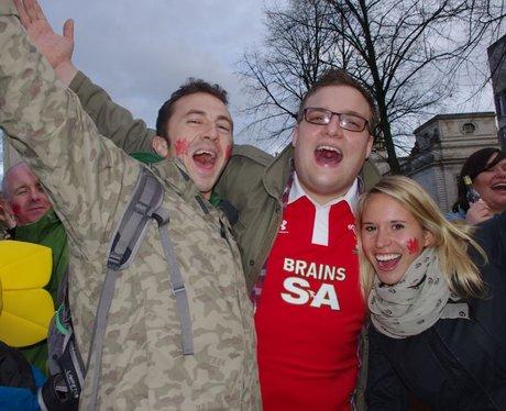 wales V France fans