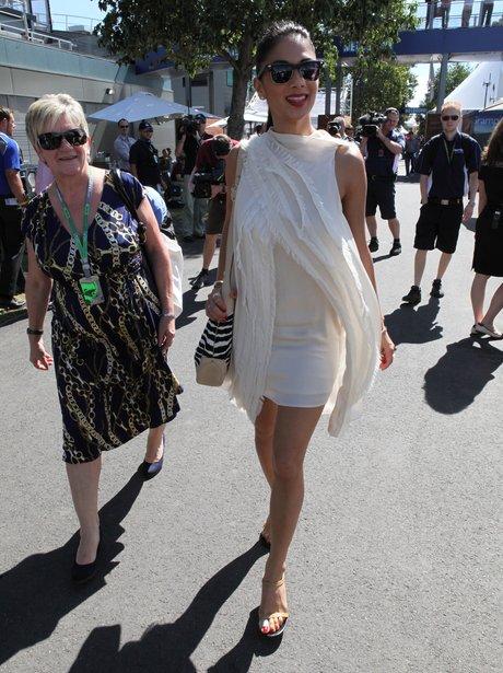 Nicole Scherzinger wiht Lewis Hamiltons mum
