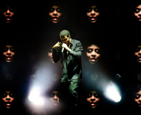 Drake performs live on stage