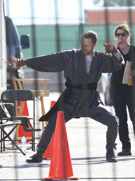 Rihanna And Chris Martin filming music Video