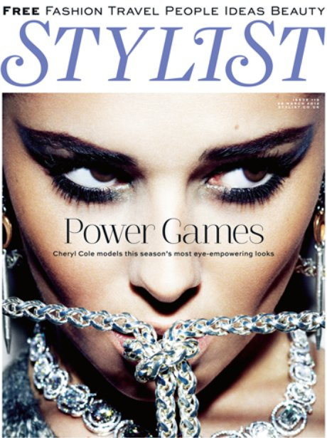 Cheryl Cole on the cover of Stylist