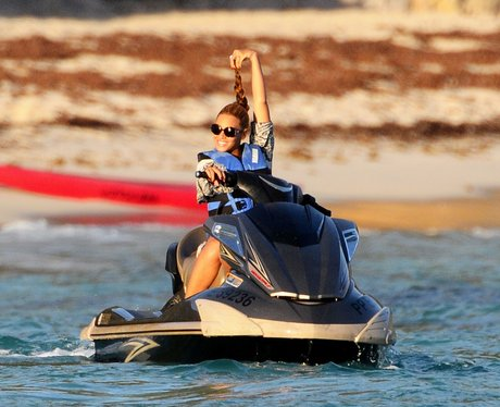 Beyonce is on a Jet Ski