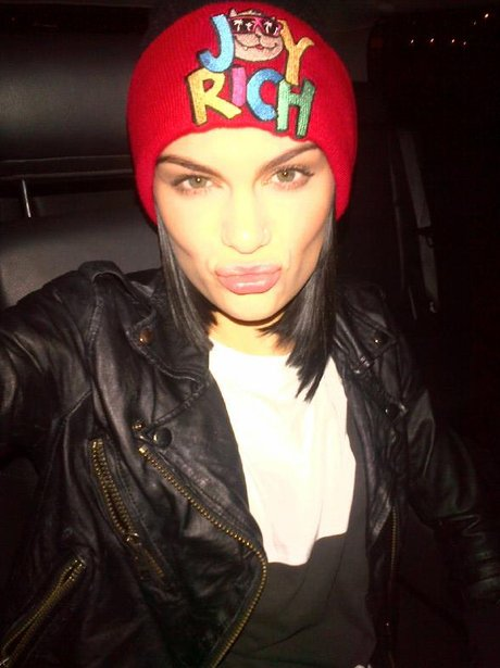 jessie J gives a pout to the camera
