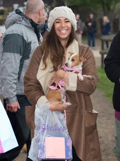 Leona Lewis at the animal sanctuary