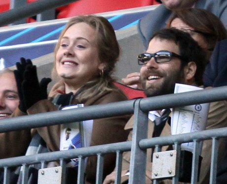 Adele with her boyfriend