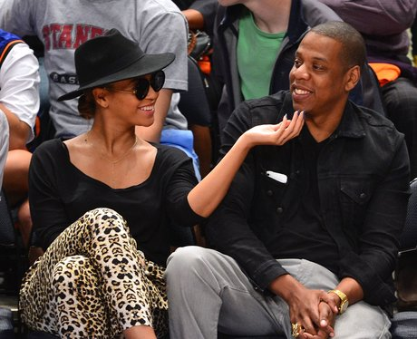 Beyonce and Jay-Z at the Lakers game