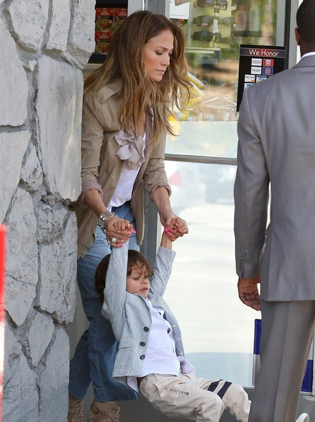 J-lo with her son