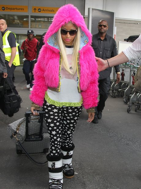 Nicki Minaj arrived in London Heathrow airport