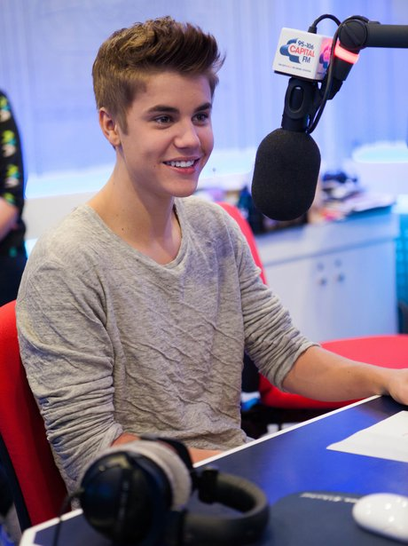 Justin Bieber at Capital FM