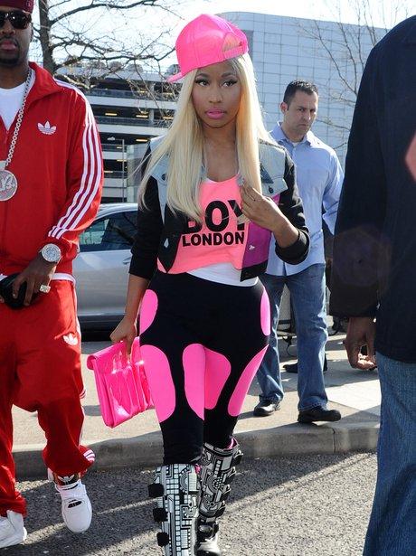 Nicki Minaj leave London