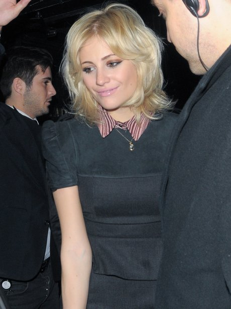 Pixie Lott out in London