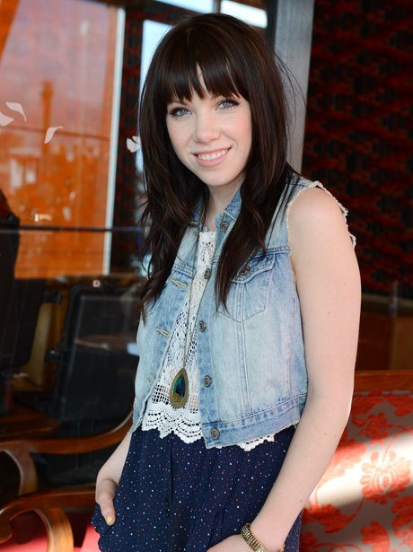 Carly Rae Jepsen promoting her debut US single.