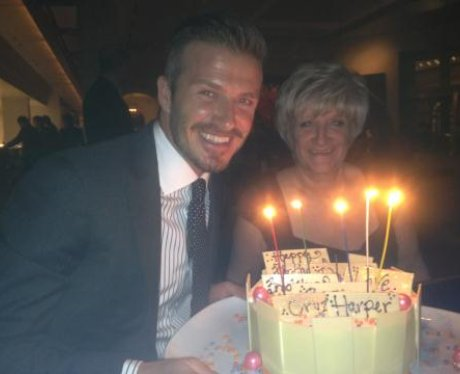 David Beckham and Mum on Twitter