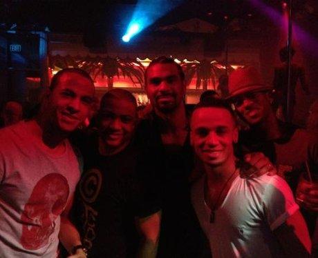 JLS and David Haye