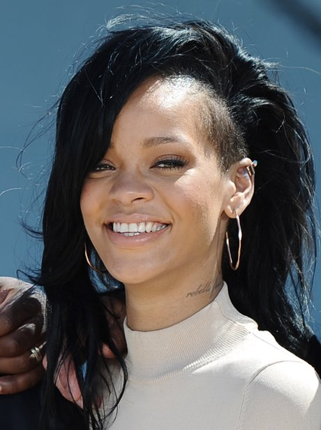 Rihanna at the Battleship film premiere.
