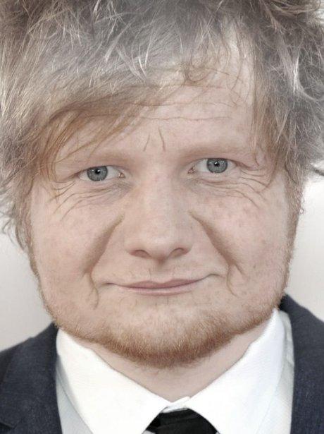 Ed Sheeran in the AgingBooth