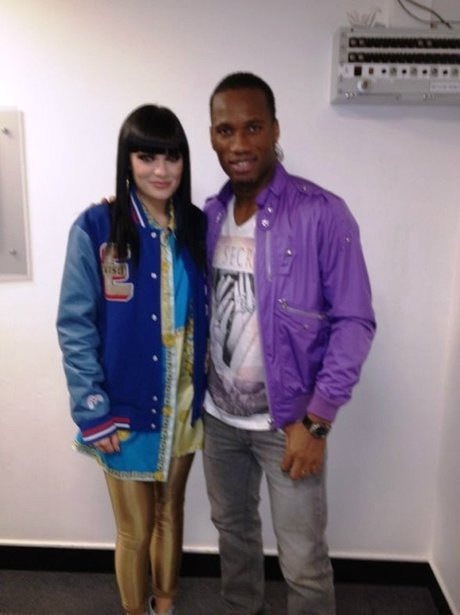 Jessie J and Didier Drogba