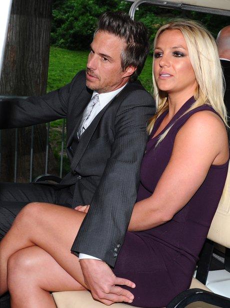 Britney Spears with her fiance Jason Trewick