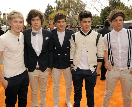 One Direction during a promotional tour appearance.