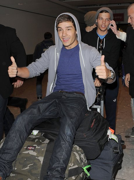 One Direction at Heathrow airport