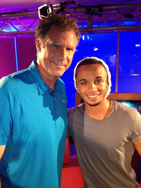 Aston Merrygold and Will Ferrell