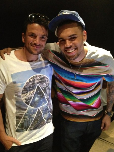 Chris Brown and Peter Andre