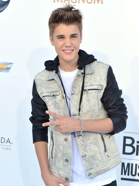 Justin Bieber arrives for the 2012 Billboard Music