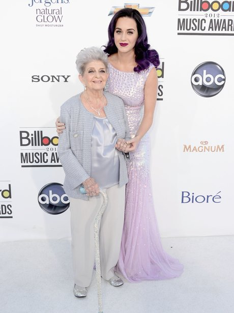 Katy Perry arrives for the 2012 Billboard Music Aw